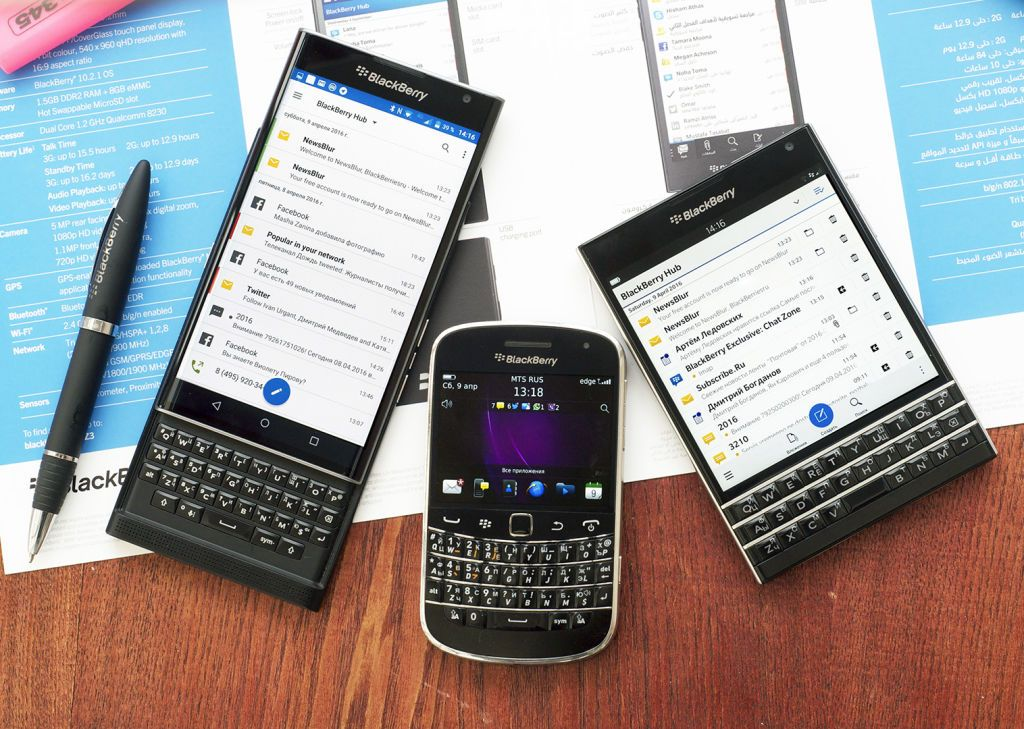 BlackBerry планшет на ОС QNX