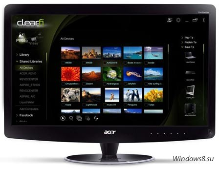 В интернет из монитора: Acer DX241H Web Surf Station