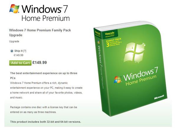 Windows 7 Family pack 2010