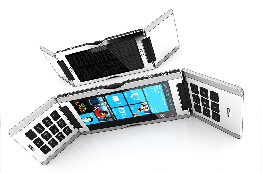 Концепт windows phone 7-смартфона «тройной флип»
