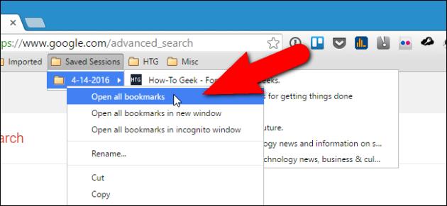 Как сохранить все открытые вкладки в браузере Google Chrome