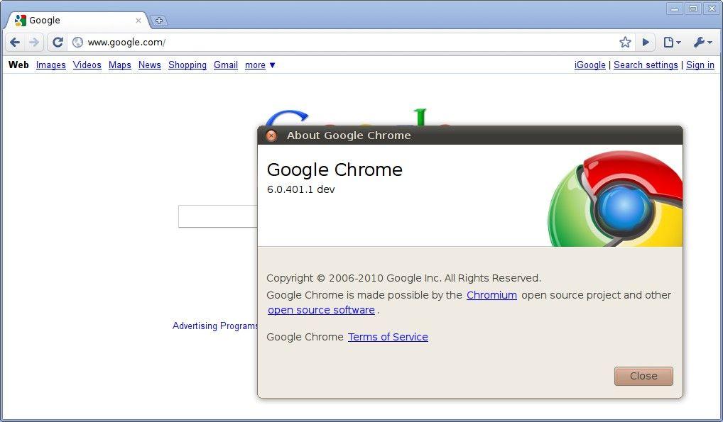 Релиз Chrome 9