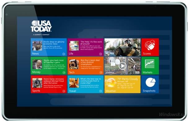 Приложение USA Today для Windows 8