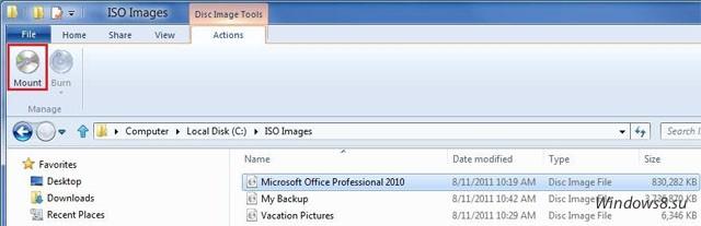 Поддержка ISO в Windows 8