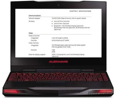 Ноутбук Dell Alienware M11x: новая комплектация