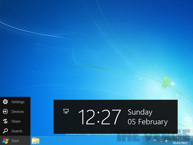 Пуск Windows 8