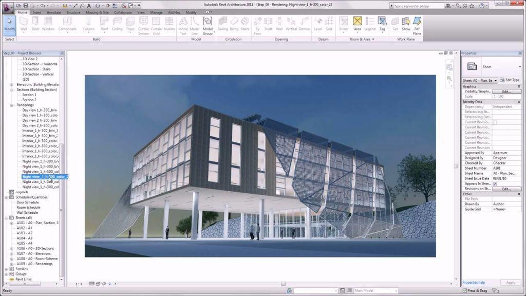Возможности Autodesk Revit Architecture