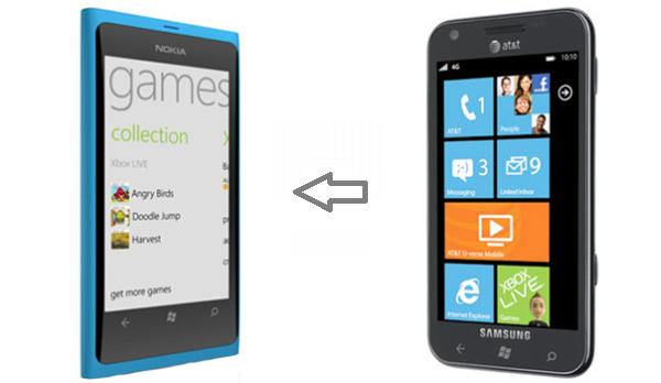 Способ «превращения» Samsung Focus в Nokia Lumia 800
